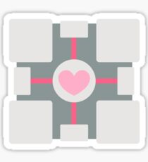 Companion Cube - Portal Sticker