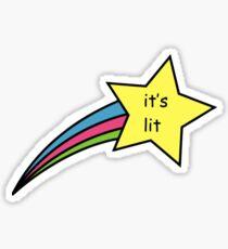 It's Lit Shooting Star Sticker