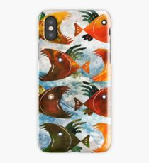 Indonesian batik, wild fish pattern iPhone Case