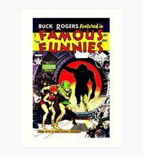 Retro Golden Age Classic Famous Funnies Cover 213 Art Print