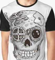 Steampunk Skull Graphic T-Shirt