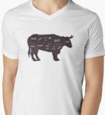 Primitive Butcher Shop Beef Cuts Chart 2 T-Shirt