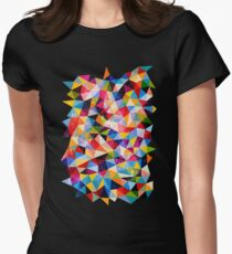 Space Shapes Women's Fitted T-Shirt