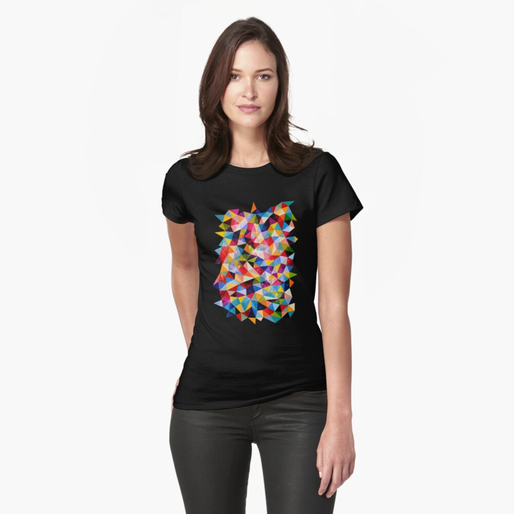 Space Shapes Fitted T-Shirt
