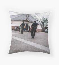 Street Cops Throw Pillow
