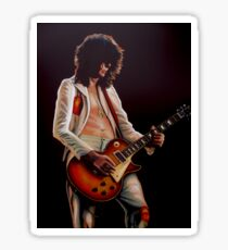 Jimmy Page In Led Zeppelin Painting Sticker