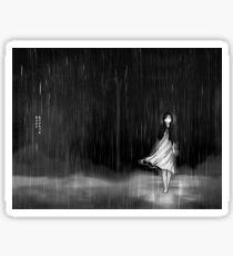 ... as the rain fell on me Sticker