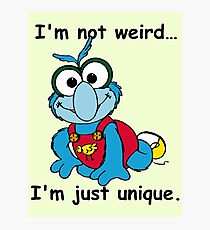 Muppet Babies - Gonzo 02 - I'm Not Weird... Photographic Print