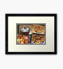 Seasonal Fayre Collage - Food for Christmas Framed Print