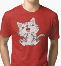 Cute American Shorthair Tri-blend T-Shirt