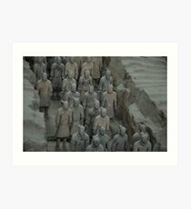 Terracotta Army Art Print
