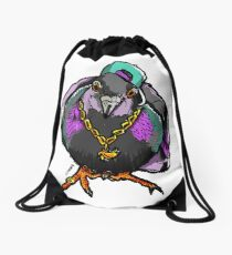 Homie Pigeon (Colorful 90's) RedBubbleArtParty Drawstring Bag