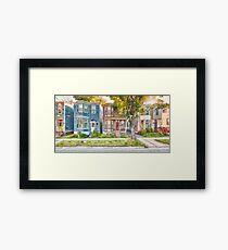 Townhouses Halifax Nova Scotia Framed Print