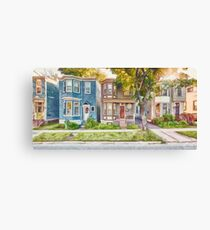 Townhouses Halifax Nova Scotia Canvas Print