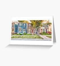 Townhouses Halifax Nova Scotia Greeting Card
