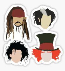 Johnny Depp - Charakter Tribut Sticker
