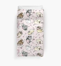 Love is in the Air - Cute Pug Cupids Duvet Cover