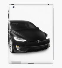 Black 2017 Tesla Model X luxury SUV electric car isolated on white art photo print iPad Case/Skin