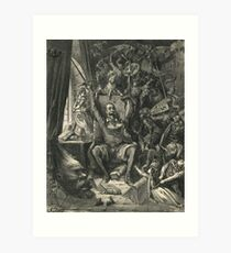 Don Quixote in his study by Gustave Dore Art Print