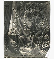 Don Quixote in his study by Gustave Dore Poster