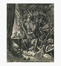 Don Quixote in his study by Gustave Dore Photographic Print