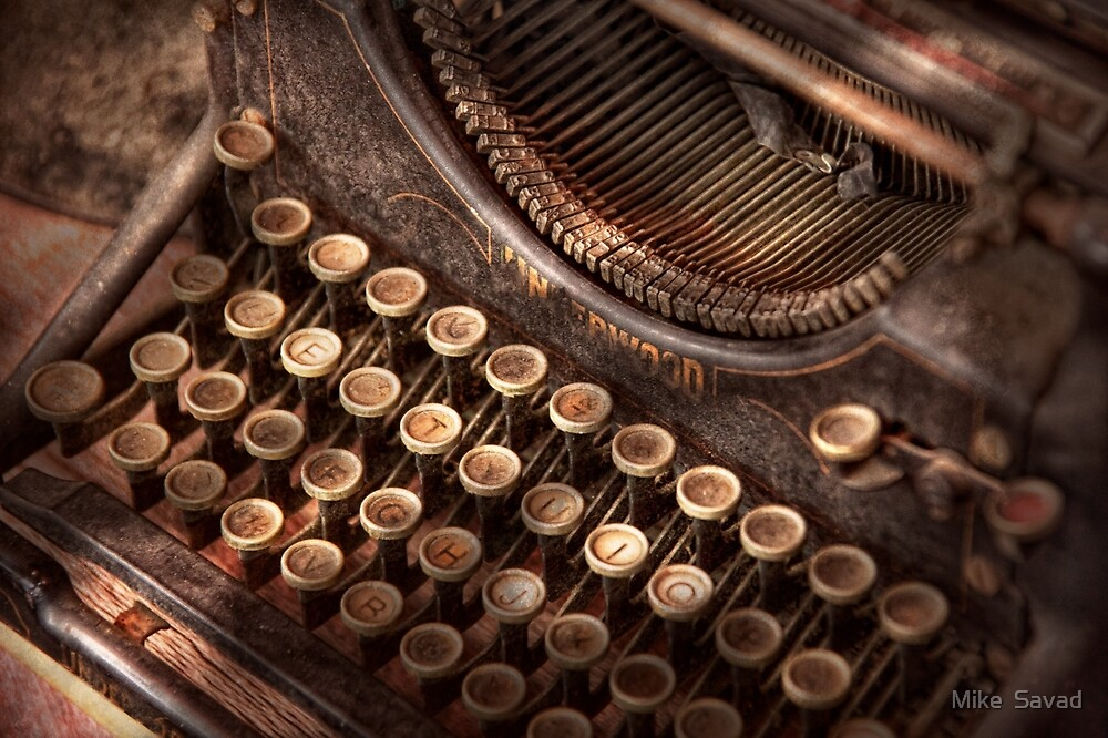 Steampunk - Typewriter - Too tuckered to type by Michael Savad