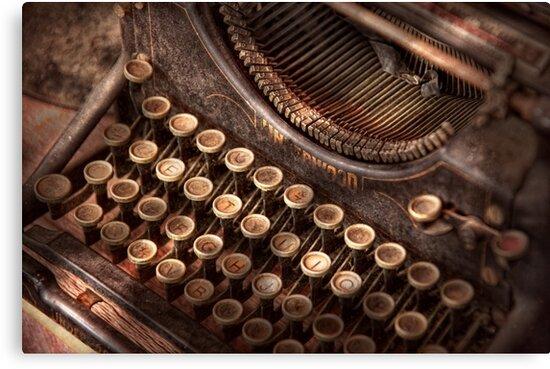 Steampunk - Typewriter - Too tuckered to type by Michael Savad