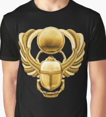 Gold Egyptian Scarab Graphic T-Shirt