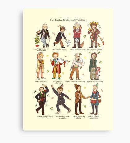 The Twelve Doctors of Christmas Metal Print