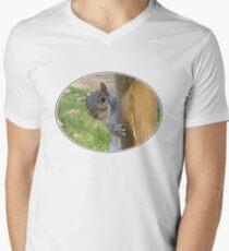 Peek-a-Boo! (Self Portrait in the Eye) Men's V-Neck T-Shirt