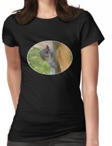 Peek-a-Boo! (Self Portrait in the Eye) Womens Fitted T-Shirt