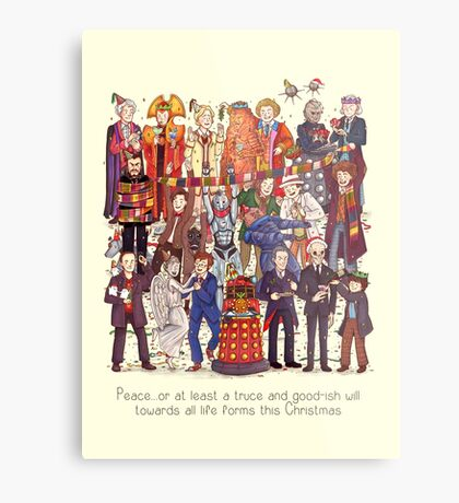 The party doesn't start until the Doctor walks in...twelve times Metal Print