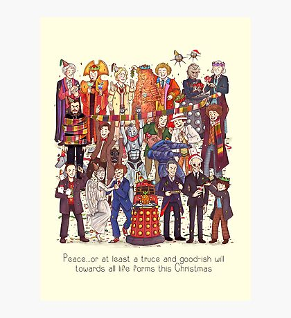 The party doesn't start until the Doctor walks in...twelve times Photographic Print