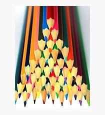 Colored Pencil Pyramid Photographic Print