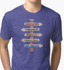 Bob Dylan Roadmap Tri-blend T-Shirt