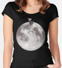 Lost in a Space / Moonelsh Women's Fitted Scoop T-Shirt