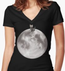 Lost in a Space / Moonelsh Women's Fitted V-Neck T-Shirt