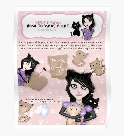 HERE'S HOW: HOW TO MAKE A CAT Poster