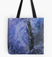 The Black Feather Tote Bag