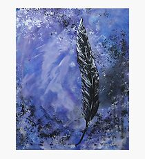 The Black Feather Photographic Print