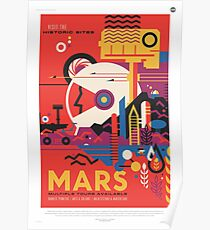 Mars Travel Poster - NASA JPL Poster