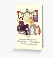 The Mystery of the Advent Chocolates Greeting Card
