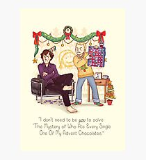The Mystery of the Advent Chocolates Photographic Print