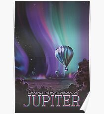 Jupiter Travel Poster - Might Auroras Poster