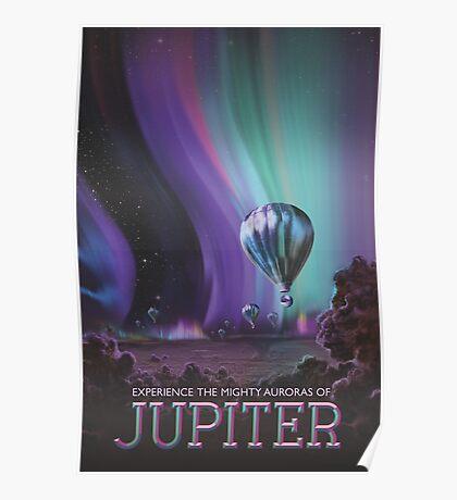 Jupiter Travel Poster - Might Auroras Poster