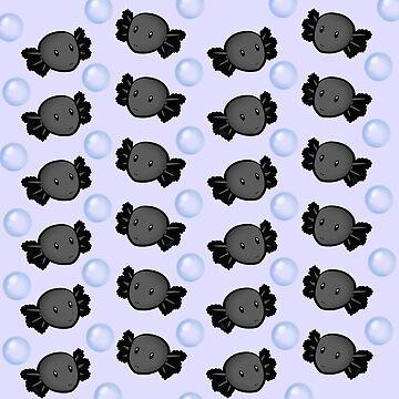 Axolotl Overload (Black) by JankyWeeaboo
