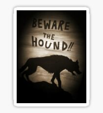 Sherlock Beware the Hound Sticker
