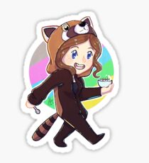 Red panda onesie. AK Sticker