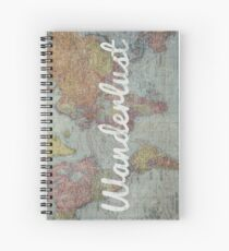 Wanderlust on Vintage World Map Spiral Notebook