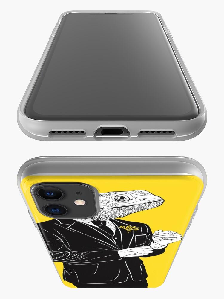 Vista alternativa de Funda y vinilo para iPhone Dapper Lizard